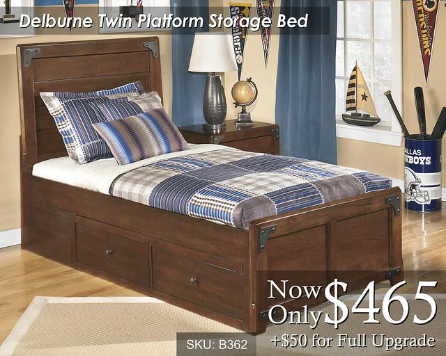 Delburne Twin Platform Storage Bed B362-63-50-70