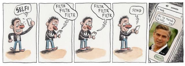 Liniers. Selfie Filtro Enviado