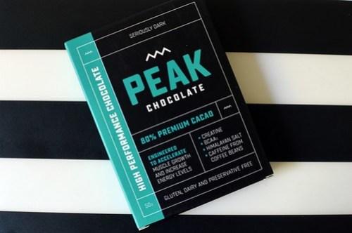 Peak chocolate bar