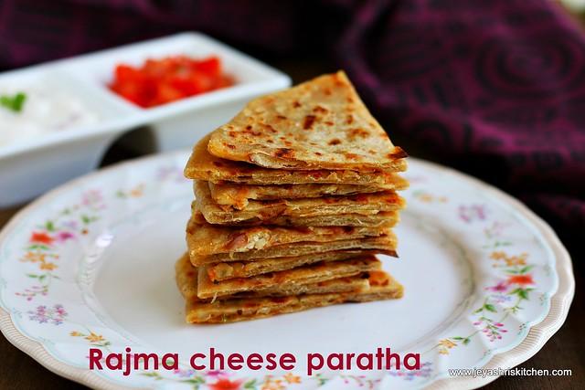 Rajma cheese paratha