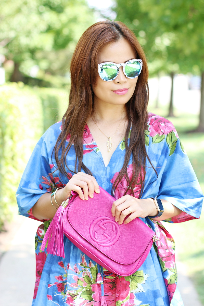 kaftan-floral-blouse-gucci-bag-beach-waves-1