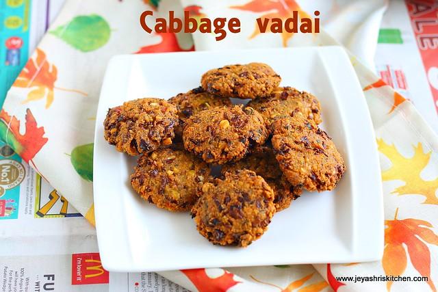 cabbage masala vadai
