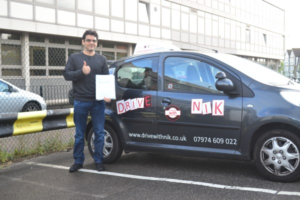 Driving lessons North Finchley Stavor passed his practical driving test first time with Drive with Nik