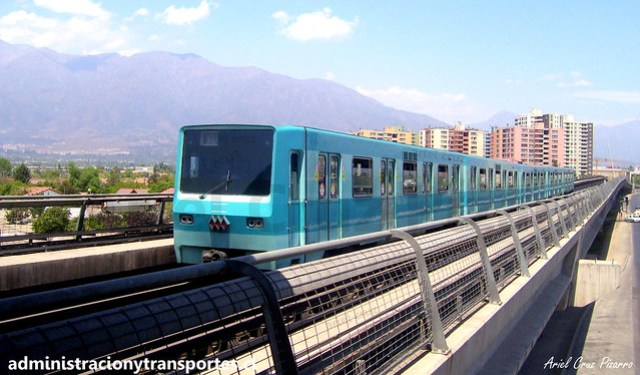 Metro de Santiago | Mirador - Bellavista de La Florida | Alsthom NS74 P3017