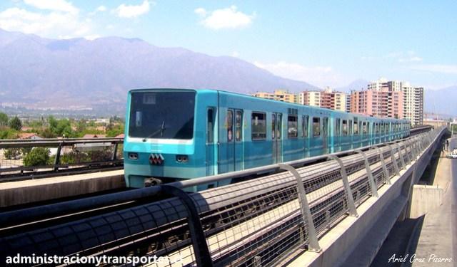 Metro de Santiago   Mirador - Bellavista de La Florida   Alsthom NS74 P3017
