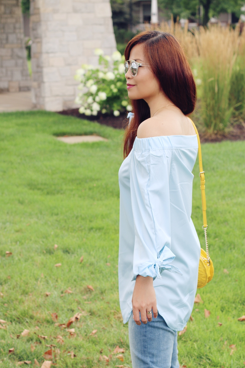 zaful-off-shoulder-top-bow-ribbon-sleeve-8