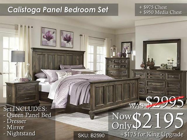Calistoga Panel Bedroom Set (Sep2016)