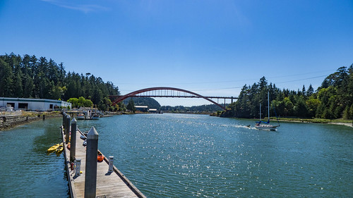 Swinnomish Channel and Rainbow Bridge