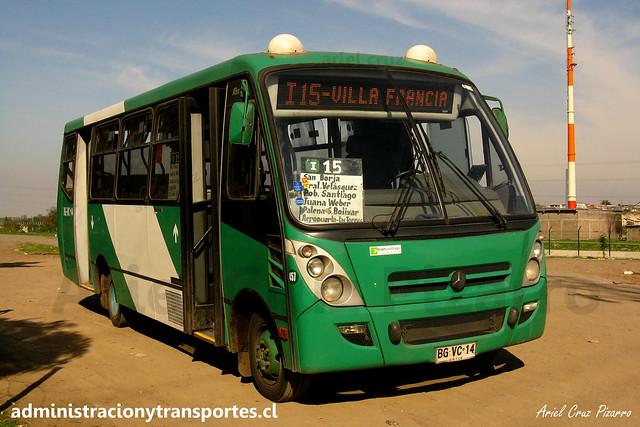 Transantiago I15 | Buses Vule | Caio Foz - Mercedes Benz / BGVC14