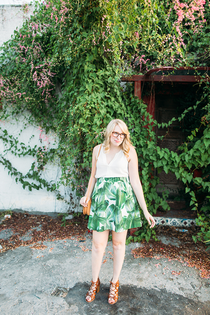 tropical leaf skirt1