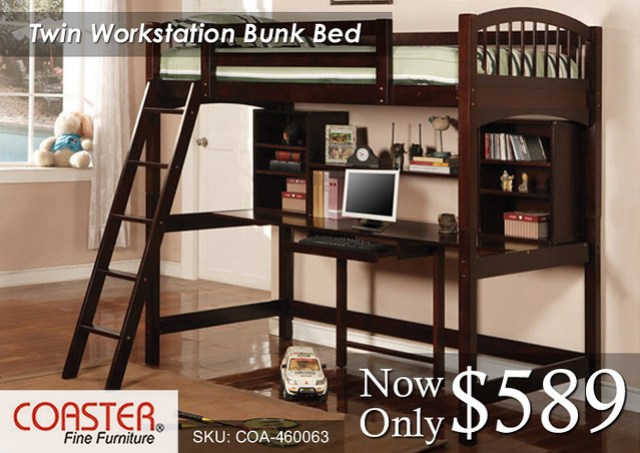 Twin Workstation Coaster Bunk