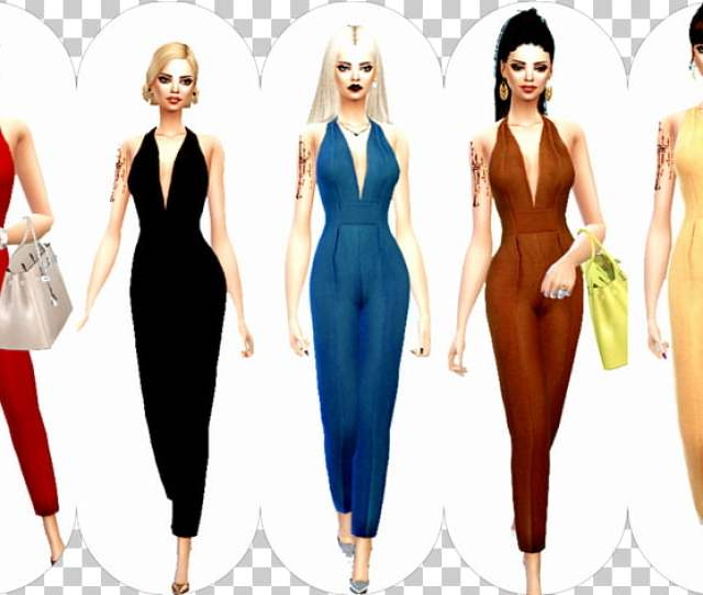 Fashion Gown Runway Sims  Sexy Clothing Png Clipart Free