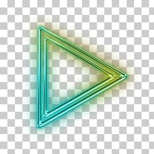 Triangle Neon Light Png Hd   Unixpaint