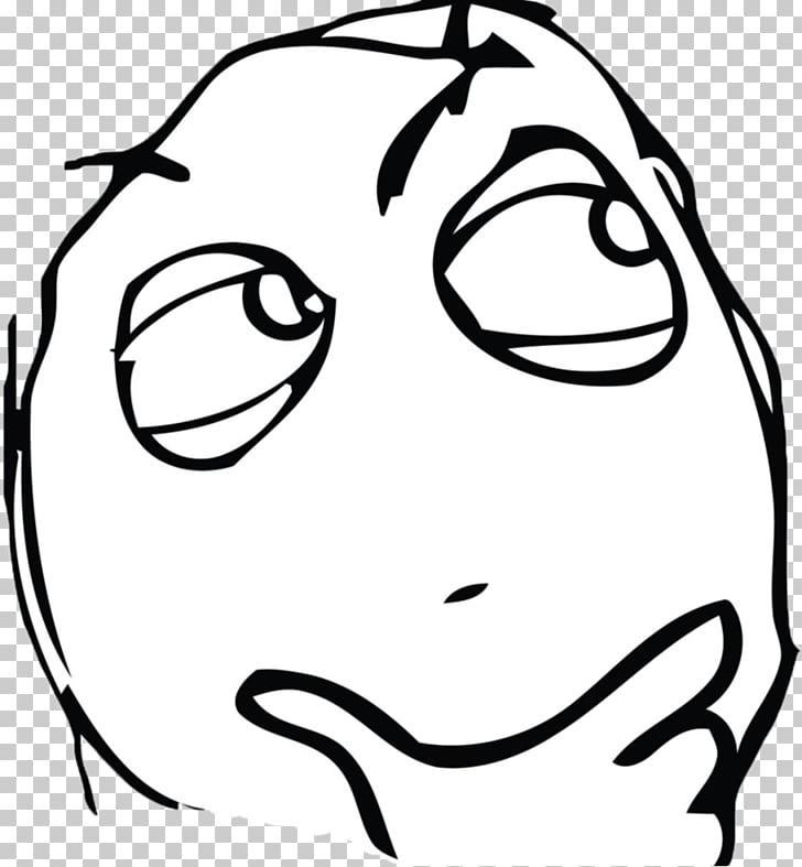 Rage Comic Internet Meme Face Thinking Man White Memes Illustration Png Clipart Free Cliparts Uihere