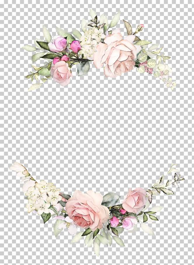 Wedding Invitation Rose Wreath Paper Fl Design Vintage