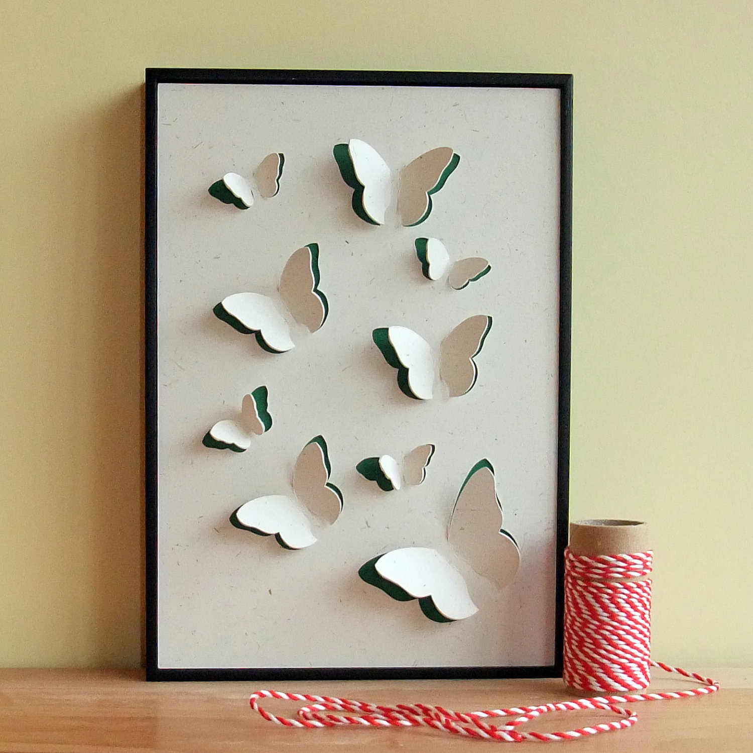 Butterfly Art Hand Cut 3D Framed Wall Art on Luulla