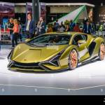 Frankfurt Germany Sept 2019 Yellow Golden Lamborghini Sian Fkp 37 Is A Mid Engine Hybrid Sports Car It Is The First Hybrid Production Vehicle Pro Stock Photo Alamy