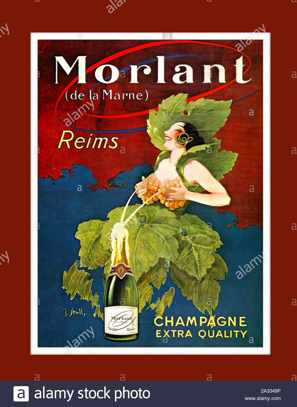 https www alamy com vintage alcohol poster french champagne morlant image328910226 html