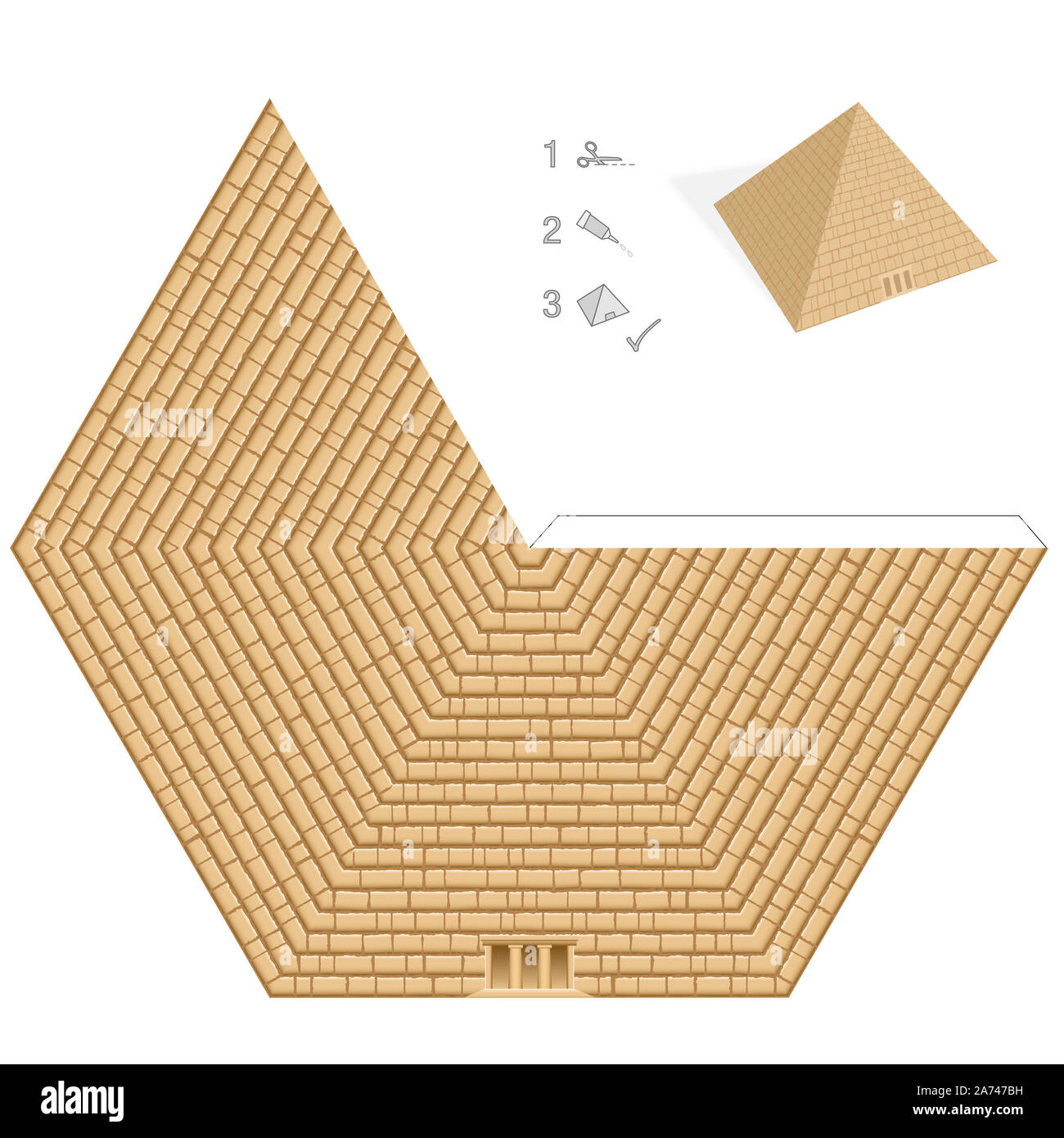 Pyramid Paper Model Easy Template