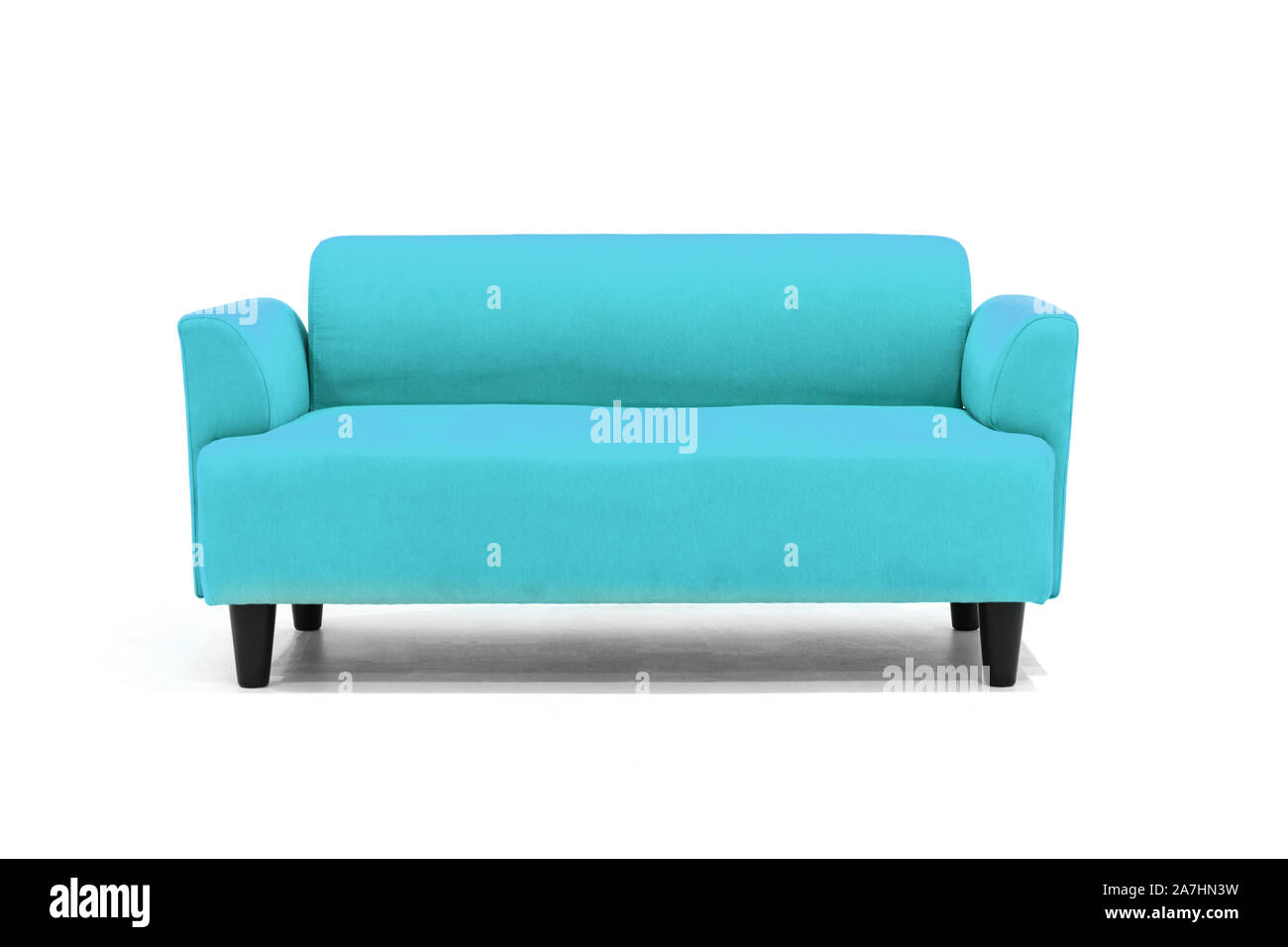 Light Blue Scandinavian Style Contemporary Sofa On White