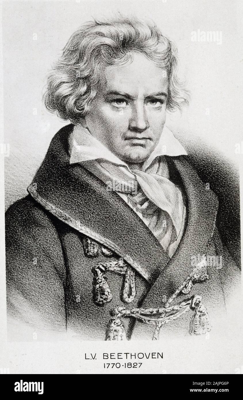 https www alamy com portrait de beethoven 1770 1827 carte postale du 19eme siecle image338556478 html