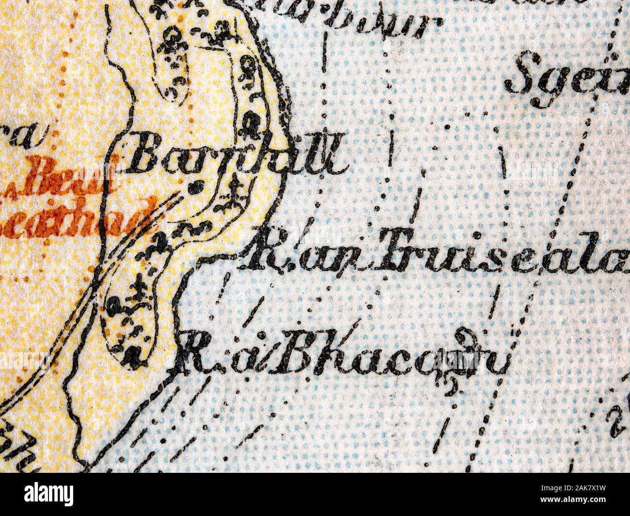 Old Map Of The Isle Of Jura Scotland The Map Features Barnhill Where The Author George Orwell Completed His Novel 1984 Stock Photo Alamy