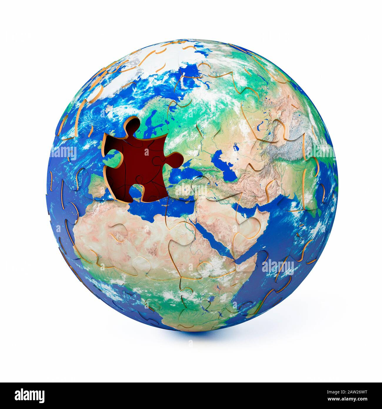 Missing Piece Map High Resolution Stock Photography And