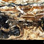 Glossy Marble With Brown Black And White Patterns A Sample Of Natural Marble With A Pronounced Texture Stock Photo Alamy