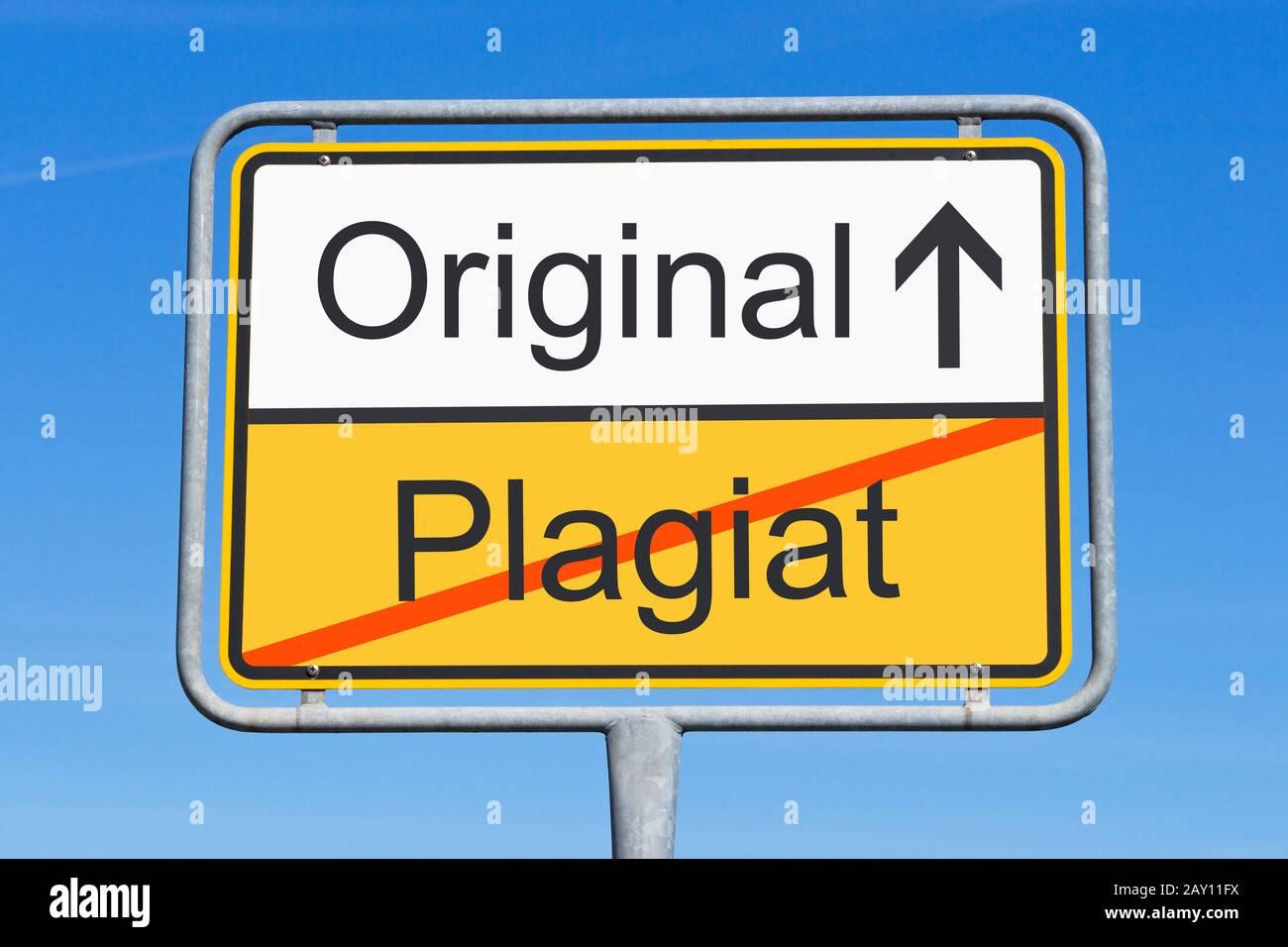 https www alamy com plagiat und original image343615886 html