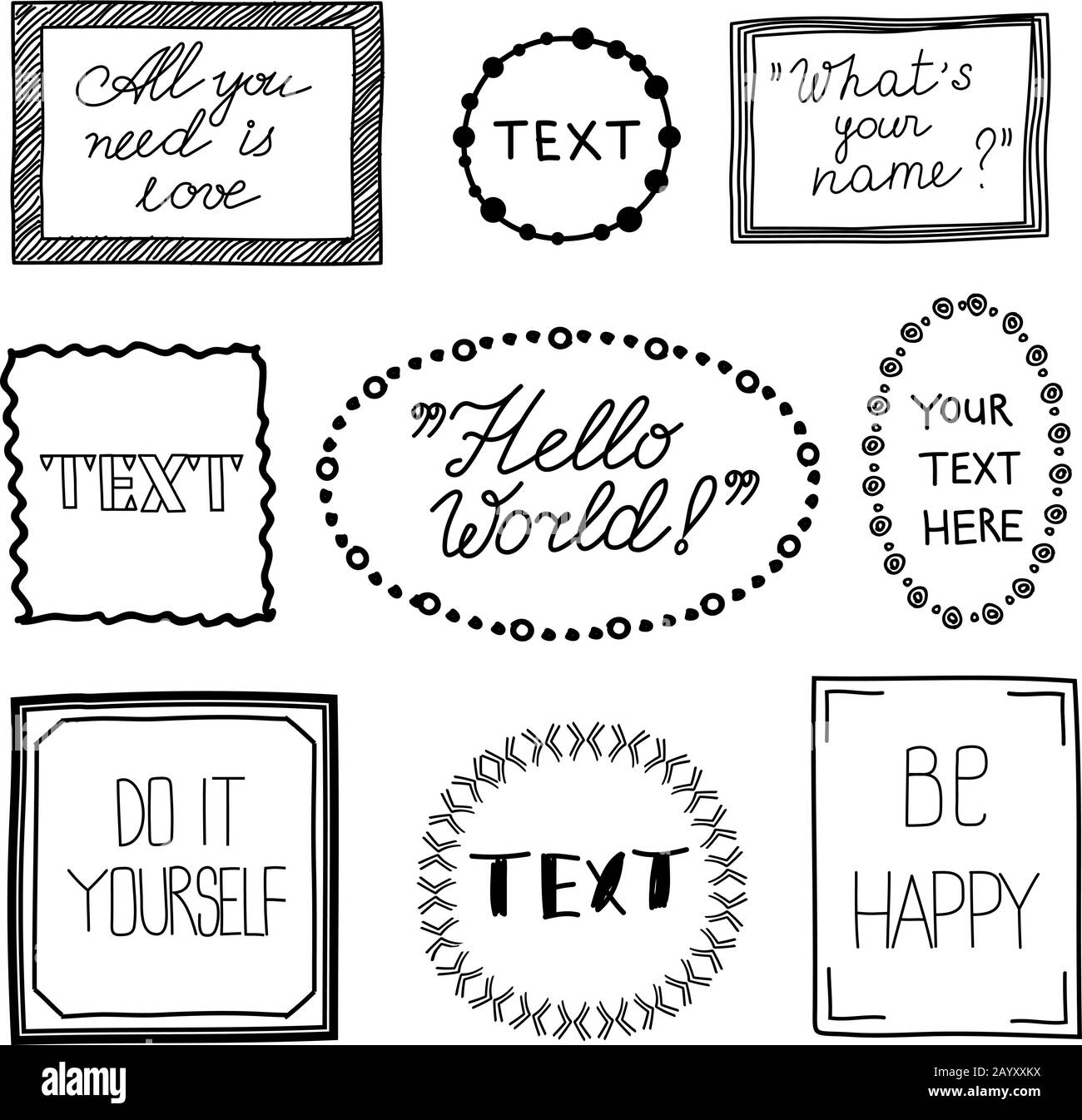 Frame Vintage Cut Out Stock Images Pictures Alamy