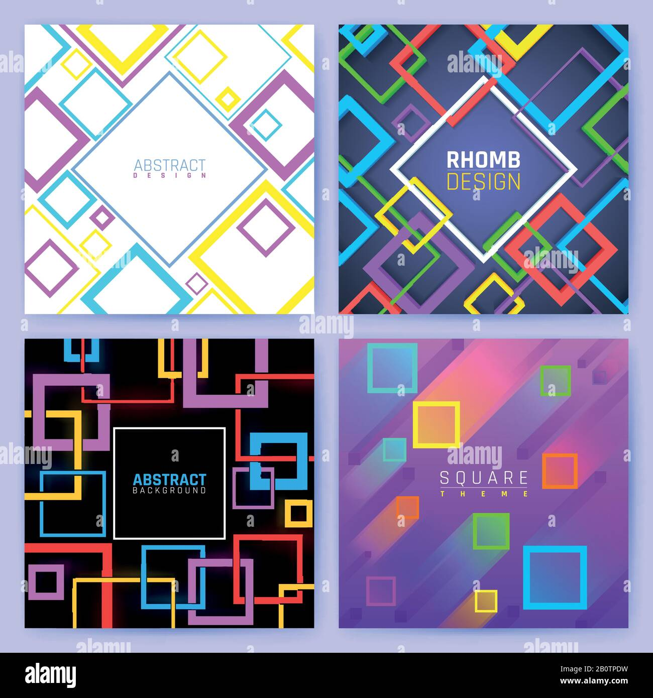 https www alamy com abstract geometric vector backgrounds with color squares creative design business brochure template colored geometric poster leaflet illustration image344751845 html