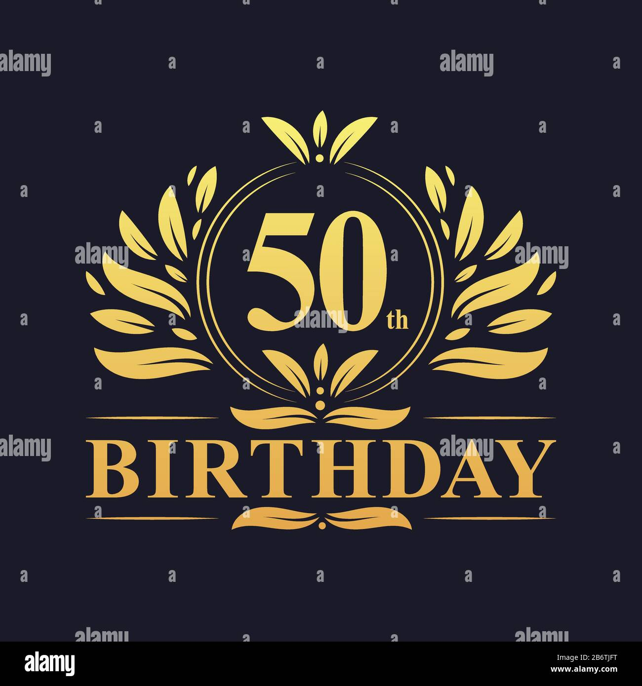 50th Birthday Design Luxurious Golden Color 50 Years Birthday Celebration Stock Vector Image Art Alamy