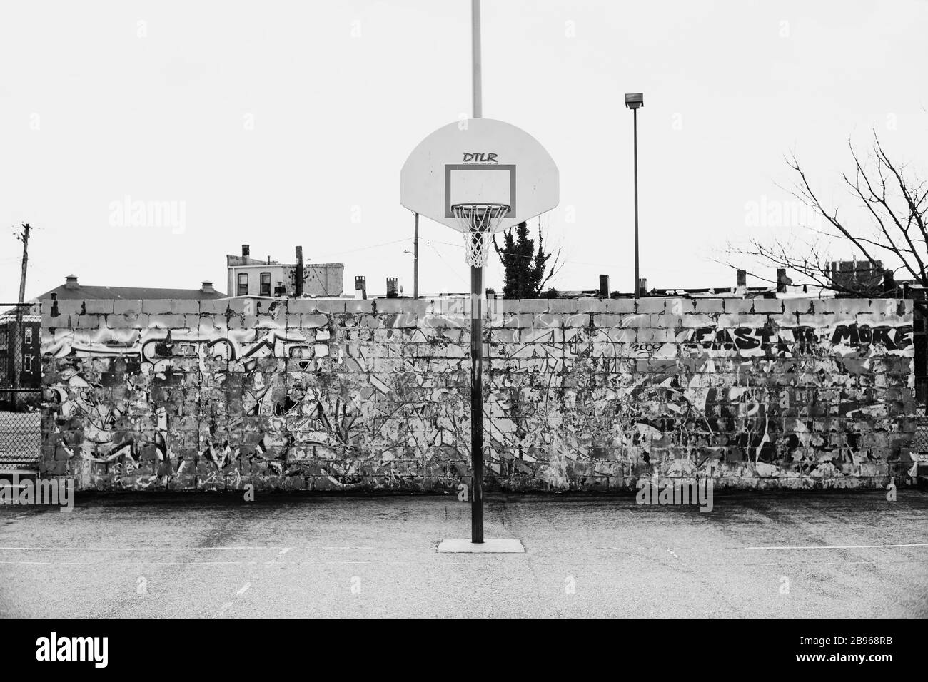 Basketball Court Black And White Stock Photos Images Alamy
