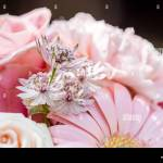 Pastel Pink And Purple Bridal Flower Bouquet Stock Photo Alamy