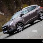 Hyundai Tucson Ix 35 4wd Suv 4x4 All Terrain Car Alloy Wheels Panoramic Sunroof Reverse Camera Automatic Gear Parking Sensors Isolated In S Stock Photo Alamy