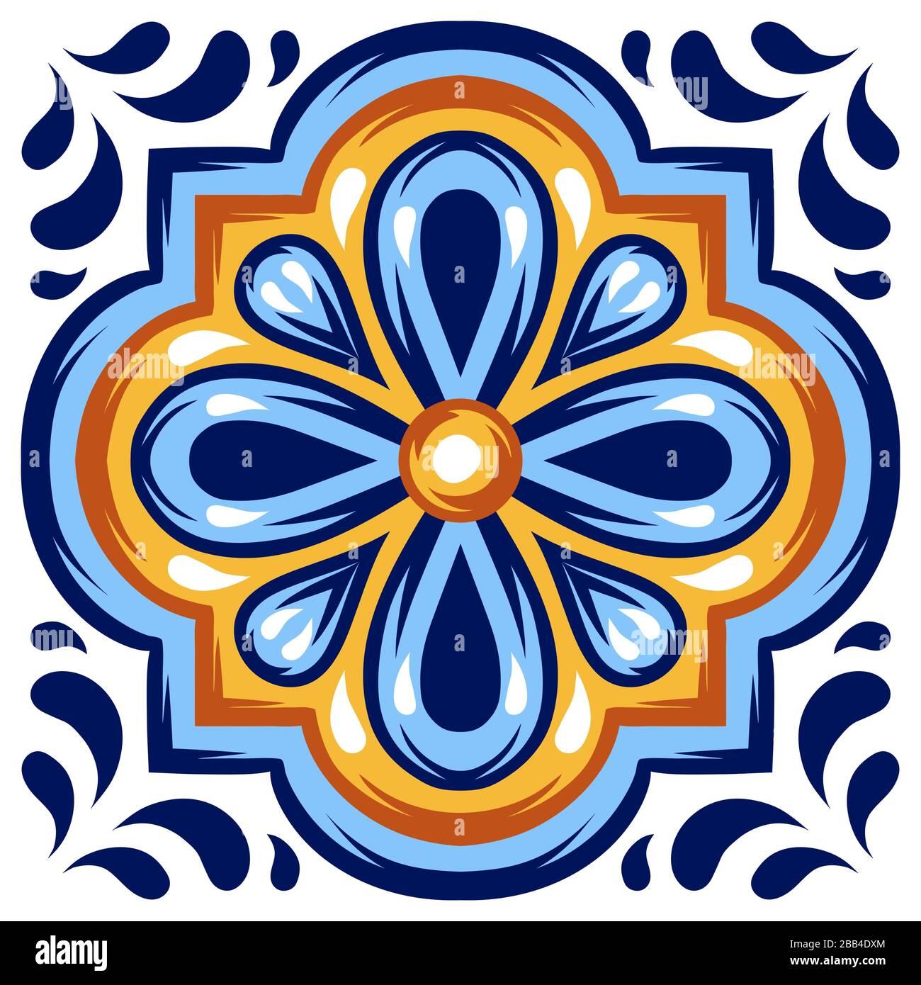 https www alamy com italian ceramic tile pattern mediterranean porcelain pottery image351067324 html