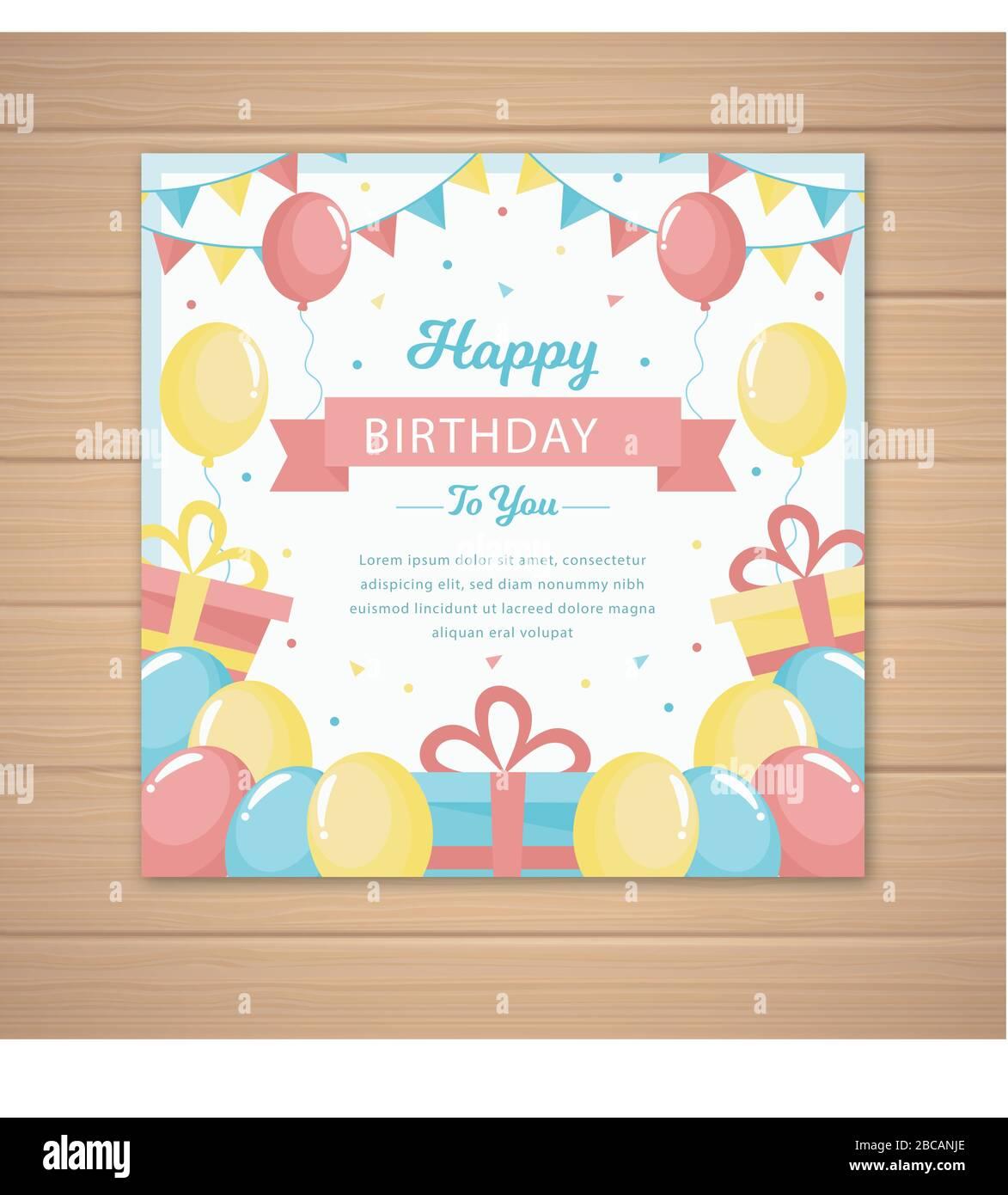 https www alamy com happy birthday invitation card template image351819734 html