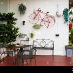 Exterior Design And Decoration Furniture At Terrace Outdoor Of Cafe Coffee Shop At Narathiwas Thailand Stock Photo Alamy