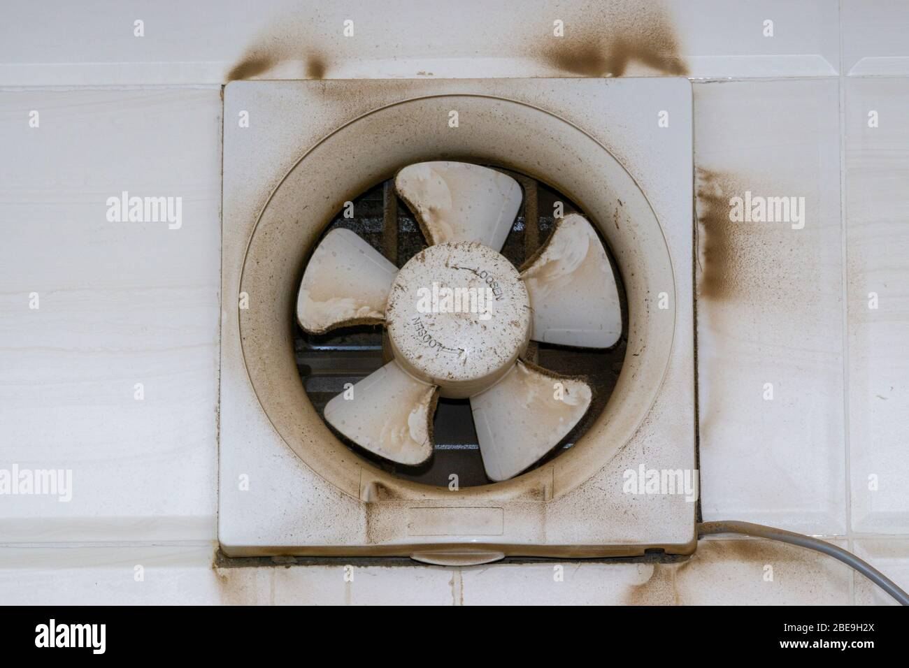 https www alamy com exhaust air blower fan exhaust fan or exhaust kitchen ventilator with dirty dust closeup selective focus image353023522 html
