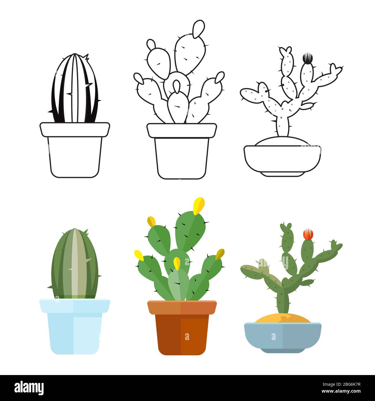Cactus Draw Cut Out Stock Images Pictures Alamy