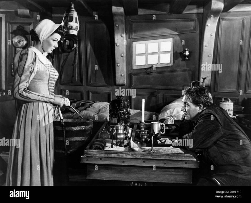 Gene Tierney Spencer Tracy Plymouth Adventure 1952 Stock Photo Alamy