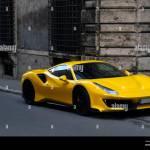 Rome Italy February 2020 Yellow Ferrari 488 Gtb Parked On A Roman Street Stock Photo Alamy