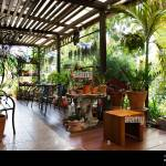 Exterior Design Gardening And Decoration Furniture At Terrace Outdoor Of Cafe Coffee Shop For Thai People And Foreign Travelers Eat And Drinks At Bang Stock Photo Alamy