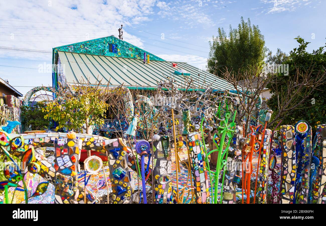 https www alamy com mosaic tile house in venice beach image360369173 html