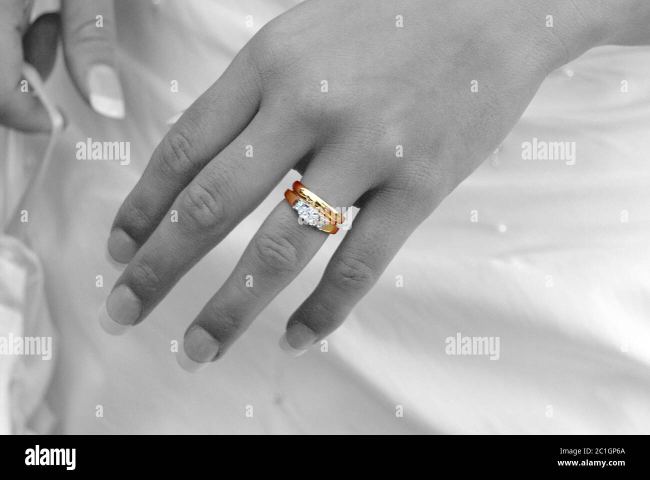 Third Finger Left Hand High Resolution Stock Photography And Images Alamy