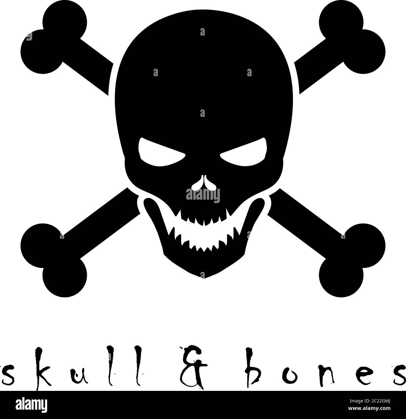 Black Skull Crossbones Vector Logo Design Stock Vector Image Art Alamy