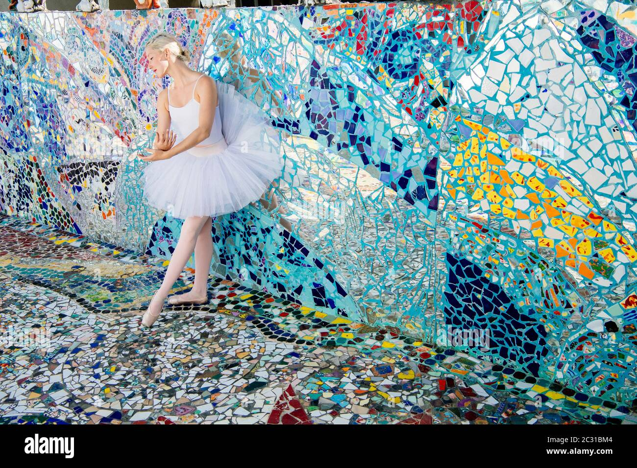 https www alamy com ballet dancer mosaic tile house venice california usa image363292836 html