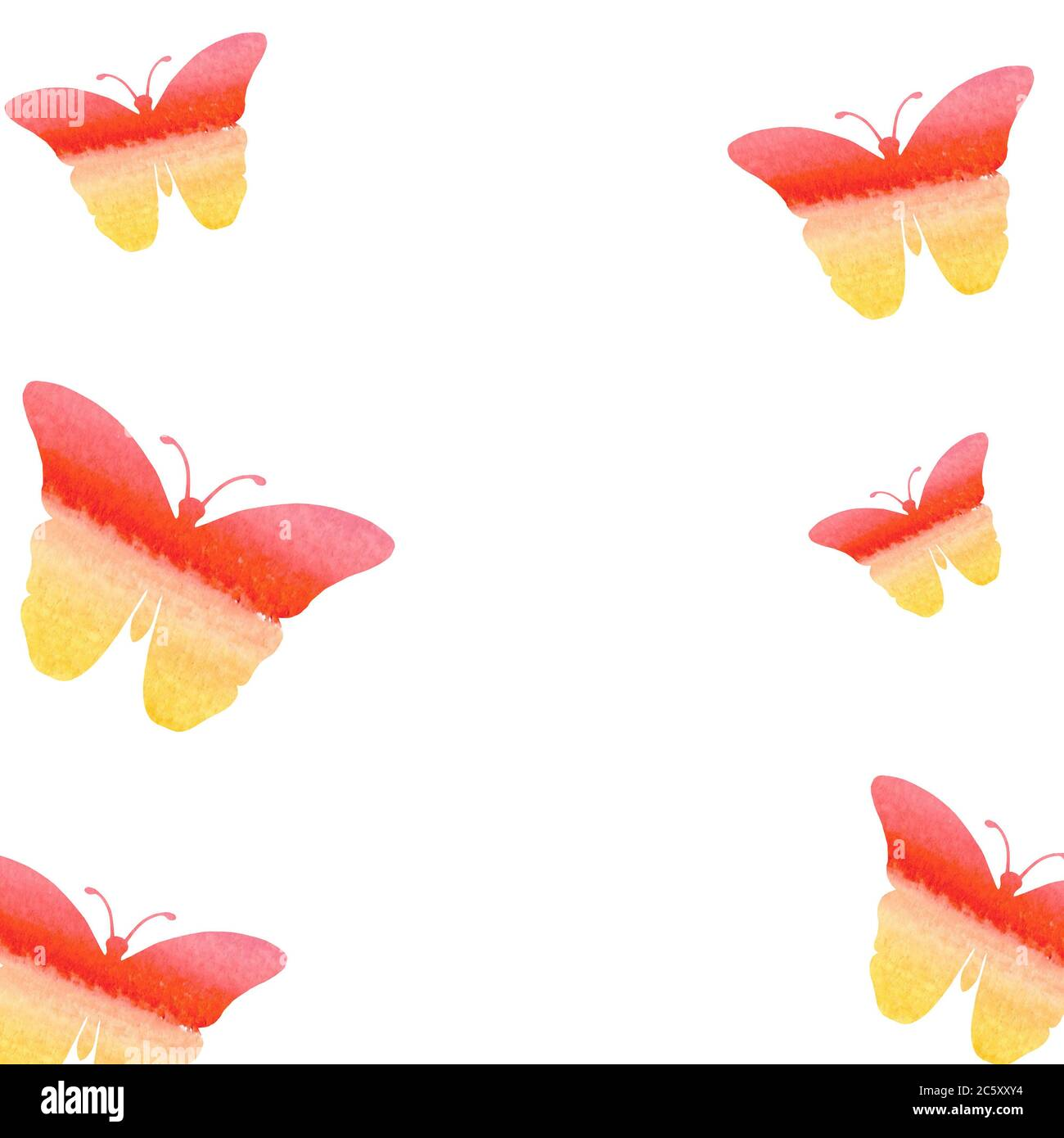 https www alamy com watercolor butterflies on a white background watercolor drawing suitable for holiday card valentine day or birthday invitation art design banner o image365082904 html