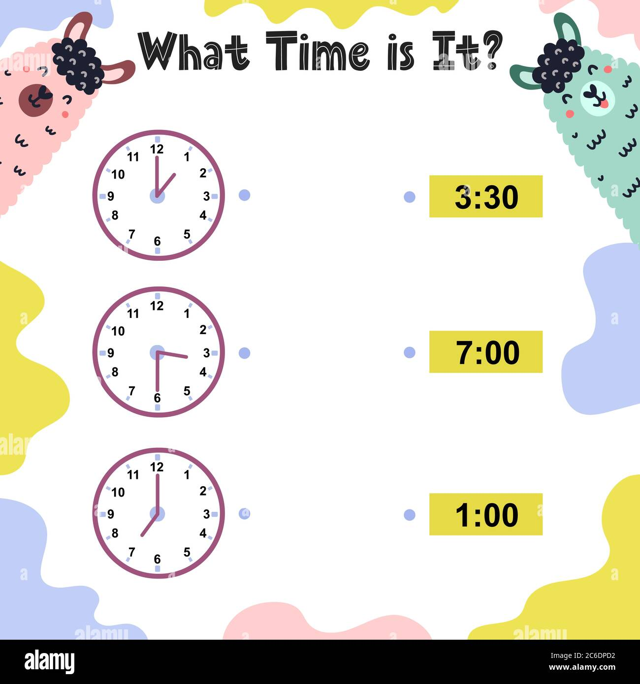 What Time Is It Worksheet For Kids Telling Time Practice