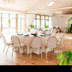 Round Pink Table With Number Three And Setting Up And Chairs Around It In The Restaurant Stock Photo Alamy